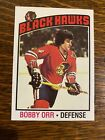 1976-77 Topps Hockey Bobby Orr #213  CHICAGO BLACKHAWS BOSTON BRUINS HOF NORRIS