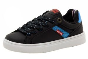 Levi's Toddler Boy's Henry Energy Fashion Black/Electric Blue Sneakers Shoes