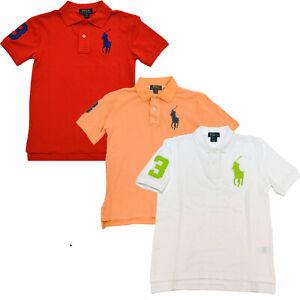 Polo Ralph Lauren Boys Polo Shirt Big Pony Logo Short Sleeve Collared S M L Xl
