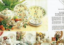 Publicité Advertising 088  1978   Faiencerie de Gien  (2p)  oiseaux paradis