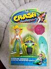 Crash Bandicoot Coco Bandicoot Wave Rider Action Figure W/ Accessories New Rare!