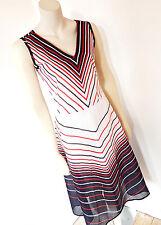Vintage 1980s 80s Sheer New Wave Summer Midi Dress UK Size 14