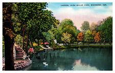 Indiana Postcard Beautiful Lagoon, Glen Miller Park, Richmond Indiana WD3.