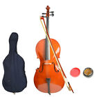New 4/4 Professional Adult Retro Basswood Cello +Bag+Bow+Rosin+Bridge