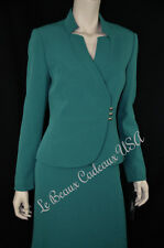 TAHARI Women Skirt Suit SIZE 12 EMERALD GREEN Two-Piece Dressy NEW$280 LBCUSA