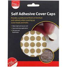 100 x PVC Screw Cover Caps ODESSA OAK 13mm SELF ADHESIVE Stick On Furniture Hole