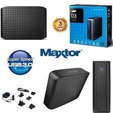 HARD DISK ESTERNO 3,5 2TB-3TB-4TB-5TB-6TB SAMSUNG-MAXTOR USB 3.0 HD D3 BLACK