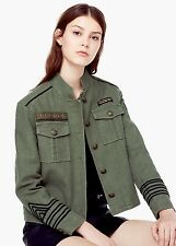 MANGO, Military woman jacket, green, chaqueta mujer, soutache, size XS