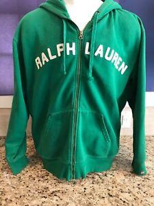Ralph Lauren green zip up hoodie. XL.