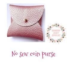 No Sew Coin Purse Plastic Template