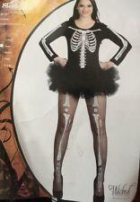 Sexy Abito Scheletro Costume Da Halloween Up Ridotto a Trasparente 1 solo piccoli