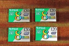 Fuji 8mm Super HG 120 Camcorder Videotape, New, Quantity 4