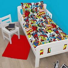 Marvel Comics Justice Junior Duvet Cover & Pillowcase Set Kids Bedding Official