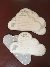 20 X Baby Shower Prediction cartes deviner Babys Sexe Poids etc