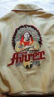 Vintage AVIREX Native Southwestern Varsity Leather American Jacket Size 4XL