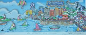 "CHARLES FAZZINO ""An Atlantic City Summer"" 3D  DX SERIGRAPH FRAMED HAND SIGNED"