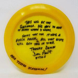 Screamer 171g Yellow Non-Released Prototype ABC Discs Used Prime Disc Golf Rare
