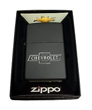 Zippo Custom Lighter Chevy Chevrolet Bowtie bow tie Logo Regular Black Matte