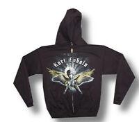 Nirvana-Kurt Cobain-Angel-Medium Black Hooded Sweatshirt
