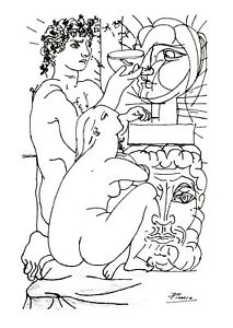 Pablo Picasso - Crayons drawing - Suite Vollard