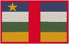 Central Africana República Bandera Bordado Plancha Patch Morale Militar Emblema