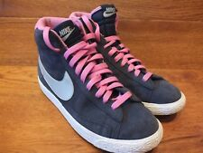 Nike Blazer Blu Navy Sneaker alte in pelle scamosciata misura UK 5.5 EU 38.5