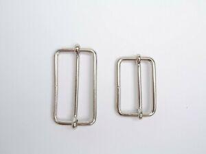 Bag Strap Adjusters / Sliding Bar Buckle - Nickel