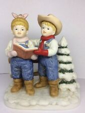 "Denim Days ""Let's Go Caroling"" #15341-98 Pub. 1985 Christmas Love Kids Farm"