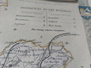 Vintage Map of Lancashire