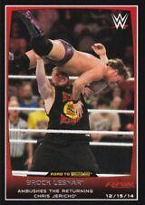 Gana #9 Wwe Road to Wrestlemania 2016 tarjeta de Topps Brock Lesnar homenaje