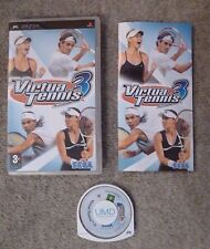 PSP PLAYSTATION VIRTUA TENNIS 3 WITH BOOKLET