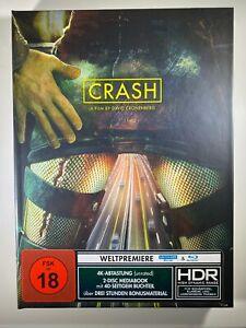 Crash 4K UHD Blu-ray 1996 Cronenberg German Mediabook ENGLISH REGION FREE SEALED