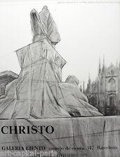 CHRISTO AFFICHE DE 1975 POLIGRAFA BARCELONE GALERIE CIENTO POSTER EXCELLENT ÉTAT