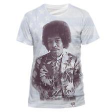 """JIMI HENDRIX """"All Over Flag"""" Official Men's T-Shirt (S)"""