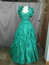 Civil War Gown Women's Victorian Dress Edwardian Reenactment Teal Size 6