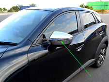 2 Pcs Chrome Side Door Rear View Wing Mirror Cover Protector for Mazda CX-3 CX3