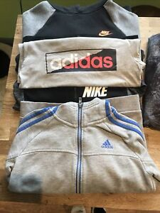 Boys Cloths Bundle Nike Adidas Hoodies,  T-Shirt Age 8-10, 9-10