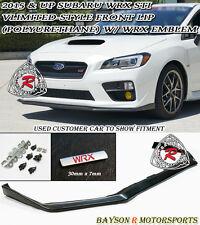 V-Limited Style Front Lip + WRX Emblem Fits 15-17 Subaru WRX STi