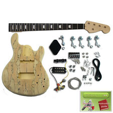 More details for build your own bass guitar kit - jazzmaster style, spalte top, ebony fretboard