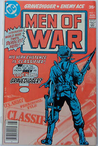 Men of War #1 (Aug 1977, DC), FN-VFN condition, Enemy Ace & Gravedigger begin