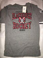 Property of Chicago Blackhawks 2015 Winter Classic CCM Tri-Blend Soft T-Shirt L