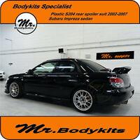 Mr. Bodykits Plastic S204 Rear Boot Spoiler Suit Subaru Impreza 2002-2007 Sedan