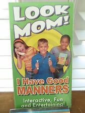 Look Mom I Have Good Manners [VHS] Etiquette Educational Parenting NEW Awards