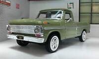G LGB 1:24 Scale Ford F100 Pickup Ute Van 1969 Green Truck Diecast Model UNBOXED