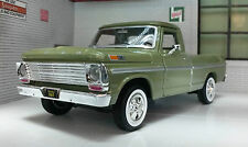 G LGB 1:24 Scale Ford F100 Pickup Ute Van 1969 Green Truck Diecast Model UNBOXED