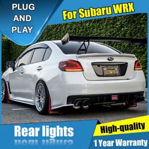 For Subaru WRX Dark / Red LED Rear Lamps Assembly LED Tail Lights 2013-2020