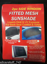 WINDOW SOCK CAR SUN SHADES - Small / Medium Curved