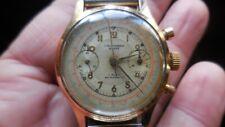 Ancienne montre chronographe suisse 17 jewels pour pièces.