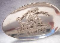 Sterling Souvenir Spoon Government Building Chicago Illinois Paye&Baker, ca 1900
