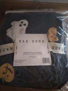 "Enchante Rae Dunn Halloween BOO Ghost Jack-o-Lantern 50""x70"" Plush Throw Blanket"